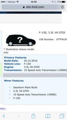 Etis updated after produced   Ford Raptor Forums