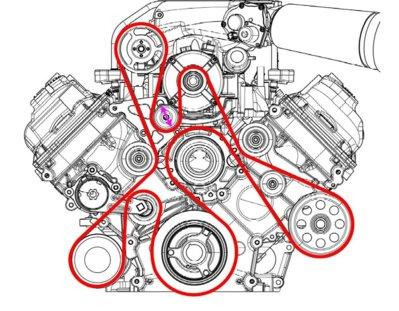 Roush Serpentine Belt Page 9 Ford Raptor Svt. Ford. 2 3l Ford Engine Serpentine Belt Diagram At Scoala.co